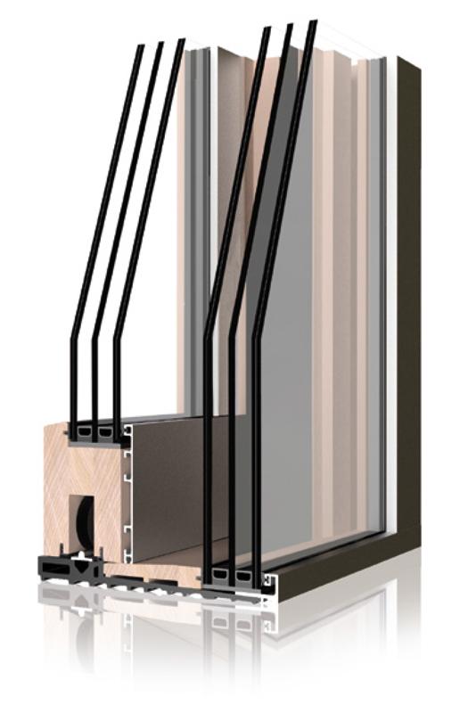 finestra e serramento serie uni one hs zero dal design