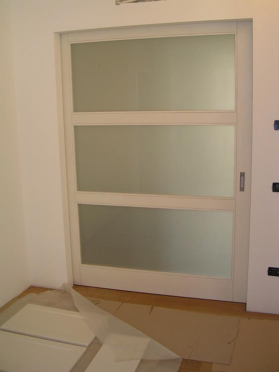 Porta scorrevole esterno muro in vetro legno padova - Porte scorrevoli esterno muro vetro ...