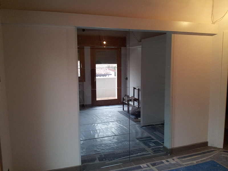 Perfect porta tuttovetro scorrevole fuorimuro with for Porta scorrevole esterna ikea