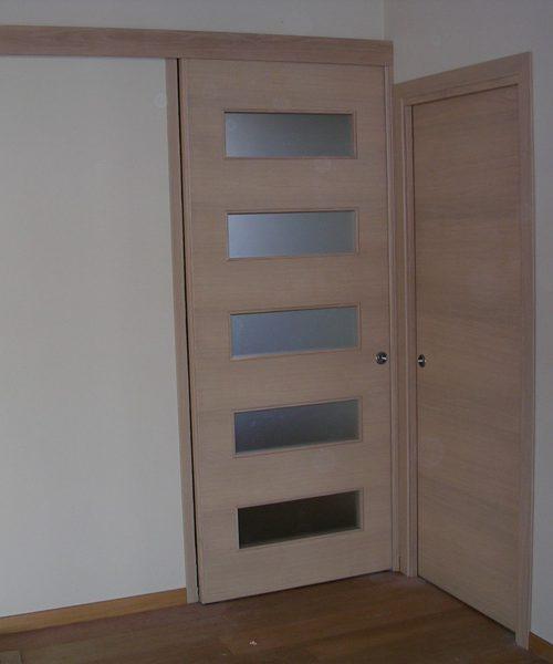 Porta scorrevole vetro e legno - Modello R Padova - Realizzazione ...