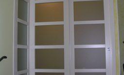 Porta scorrevole vetro e legno modello ad angolo padova - Porte scorrevoli ad angolo ...