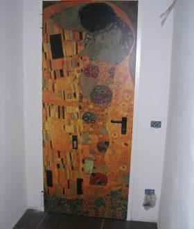 Porta tagliafuoco REI 60 decorata