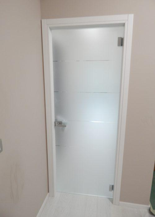 Porta tuttovetro a battente padova realizzazione porte - Porta interna vetro ...