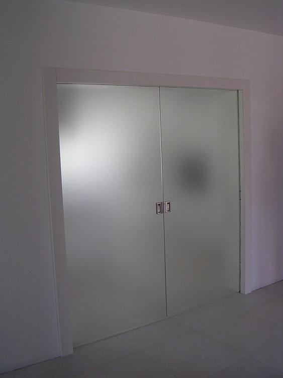 Doppia Porta Scorrevole : Porta doppia scorrevole tuttovetro padova realizzazione