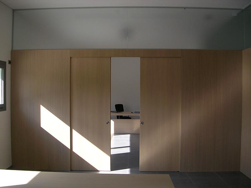 Porte scorrevoli doppie con sopraluce Padova - Realizzazione porte ...