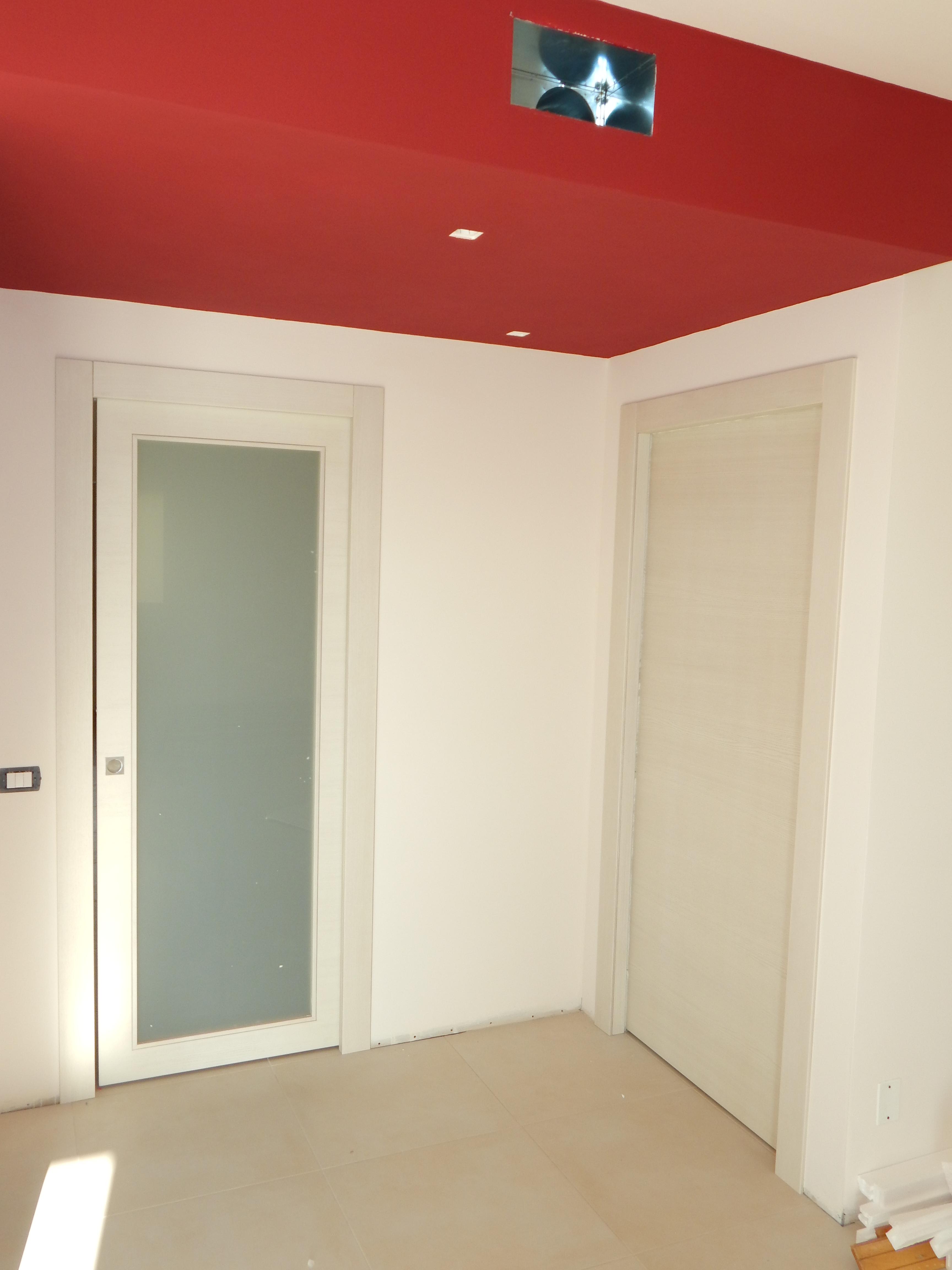 Porta in frassino country con vetro satinato Padova - Realizzazione ...