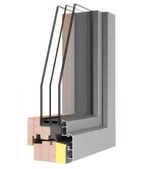 Finestre in legno alluminio Uni_One